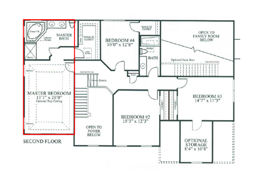 Feng shui bedroom diagram Master bedroom feng shui location